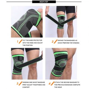 Knee Sleeve Compression Brace Patella Support Stabilizer Sports Gym Joint Pain A